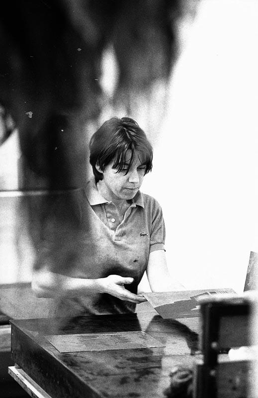 Sabine Drösler in ihrer Werkstatt