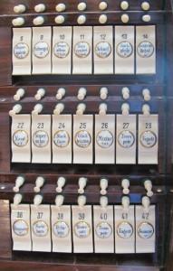 Orgelzentrum Valley Altes Schloss Orgelsaal Einsiedler Spieltisch Detail
