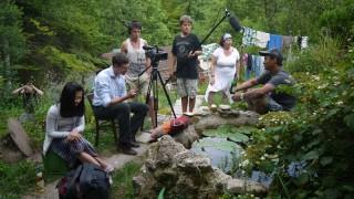 Valleyer Daltings drehen einen Film über Bildhauer