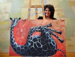Valleyerin Barbara Bertram, Malerin, arbeitet gern mit Kindern